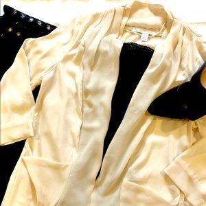 Cream Open front Cardigan 3/4 sleeves